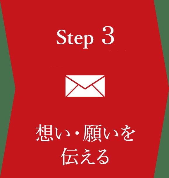 ステップ3 想い願いを伝える