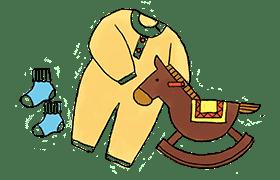 イラスト:衣類・おもちゃ