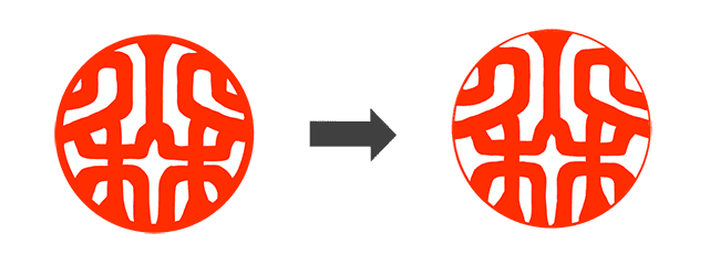 図:手仕上げ前後の比較